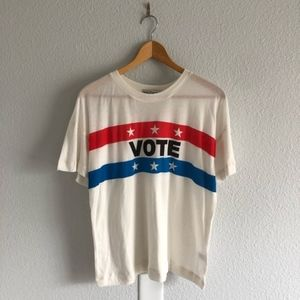 WILDFOX VOTE T-Shirt Cream White NWT Democrat